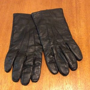Men's XL Black Leather Thinsulate Gloves